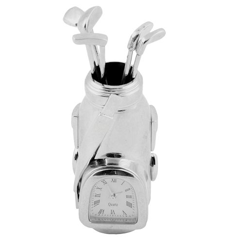 Miniature Clock Golf Bag