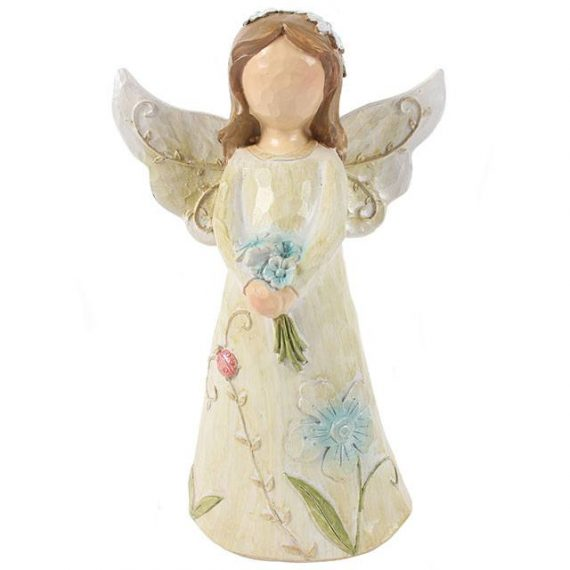 AO_03616 Blue Resin Angel,gift,figurine,present,collection,original,crafted