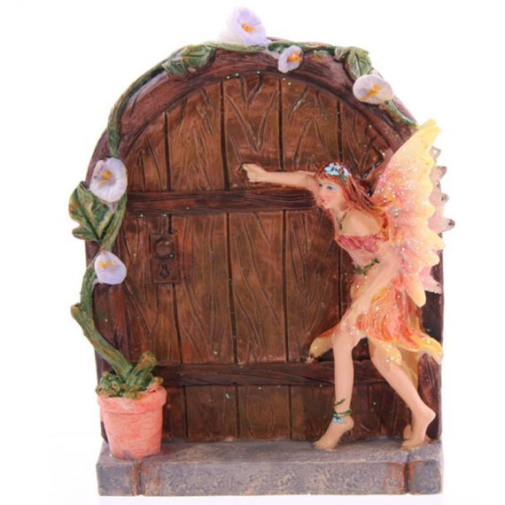 Apricot fairy door, garden, home, ornament, gift, magical