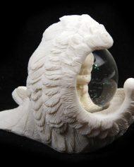 CHE08_005 cherub waterball in angel wing rear