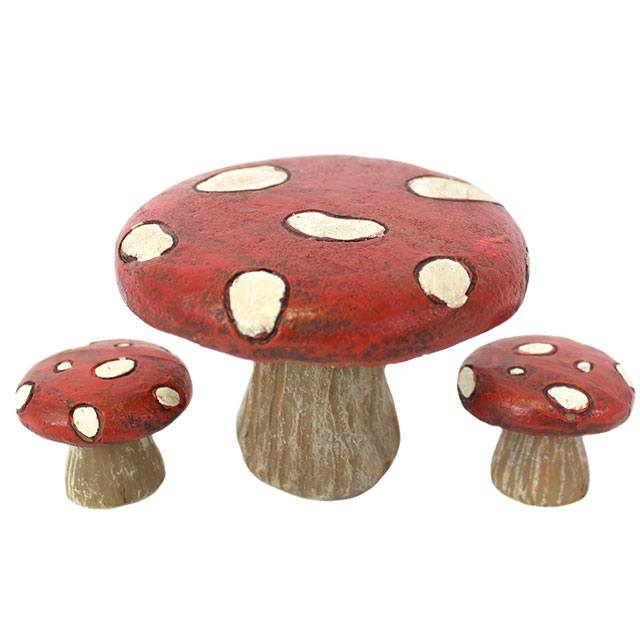 FD_59335 Toadstools and chairs white background