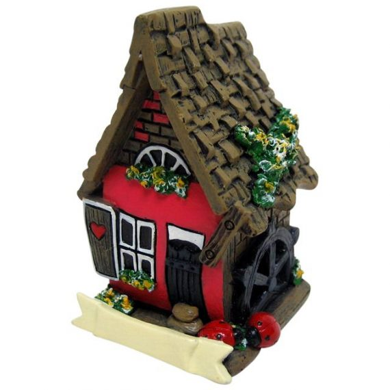 FO_14724A Red Fairy House with Ladybird