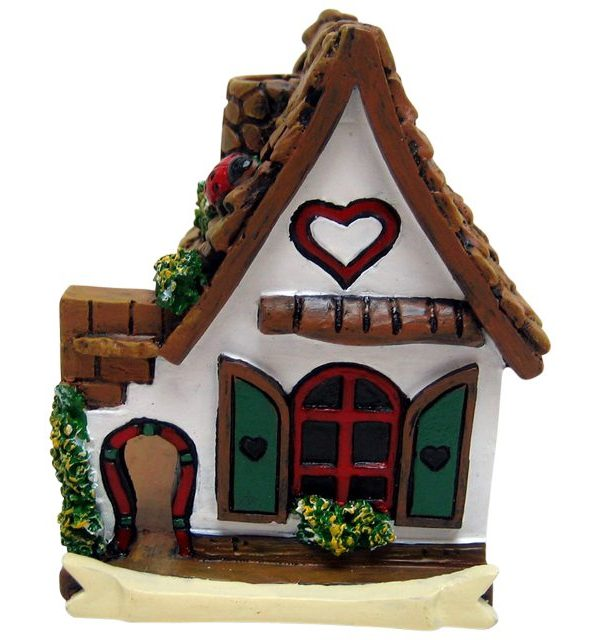 FO_14724B White Fairy House with Heart