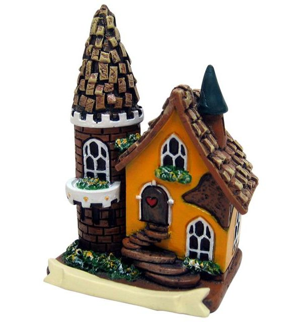 FO_14724F Yellow Fairy House with Tower
