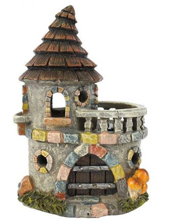 FO_59035 Fairy castle with balcony,solar, light, gift, garden, present,decoration