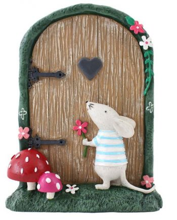 Fairy Door with Marvin Mouse,garden, home, ornament, gift, magical