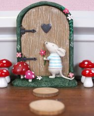 Fairy Door with Marvin Mouse and toadstools