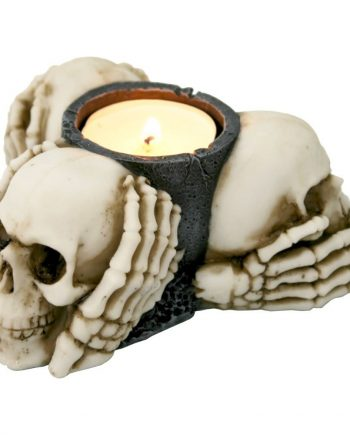 Nemesis Now 3 Wise Skulls Tea Light Holder