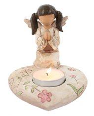 Praying angel candle holder