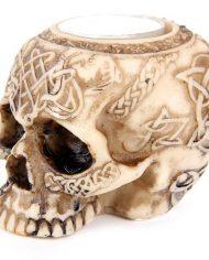SK116_002 skull tealight holder