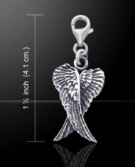TWC085-L1 angel wing clip charm bracelet