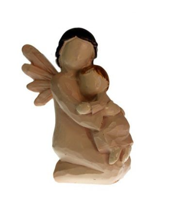 natang-05 Natures Angel kneeling with child ornament figurine gift