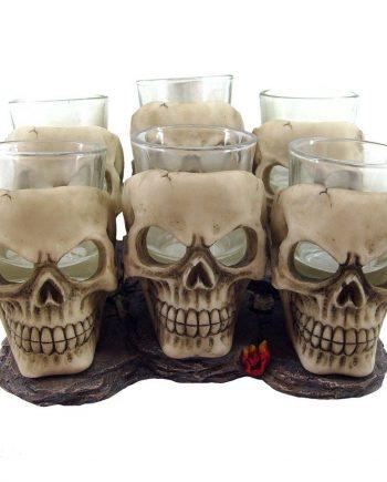 6 shooter skull glasses
