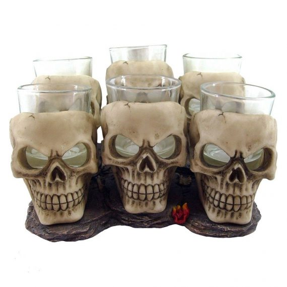 6 shooter skull glasses