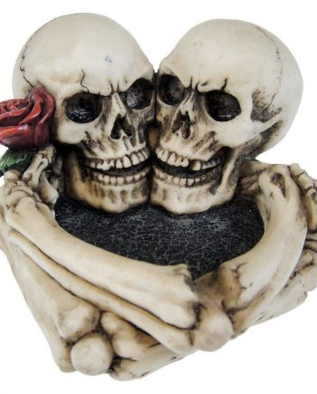 large skull ashtray