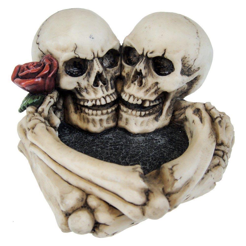 large skull ashtray