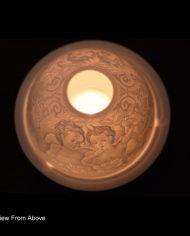900905-P3 whispering angel tea light from above