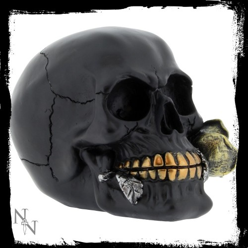 Nemesis Now Black Rose From The Dead Skull Figurine 15cm Ornament