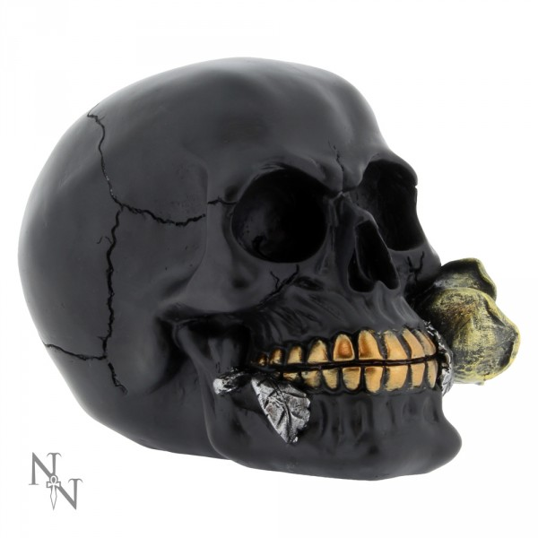 Nemesis Now Black Rose From The Dead Skull Figurine 15cm Ornament