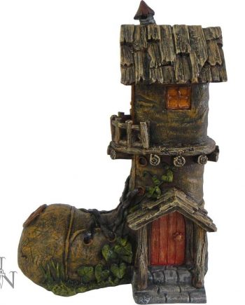 Home Sweet Home - Fairy House / Fairy Boot / Fairy Dwelling / Nemesis Now