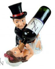exa80042 Bride and Groom Bottle Holder