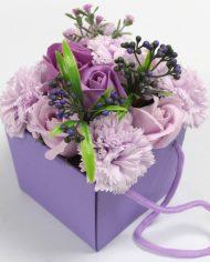 s-l1600 lavender Rose & Carnation Soap Flower Bouquet