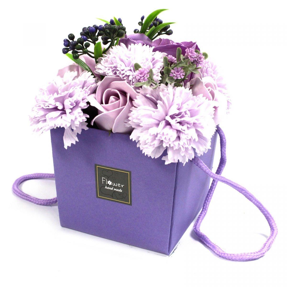 lavender-Rose-Carnation-Soap-Flower-Bouquet-