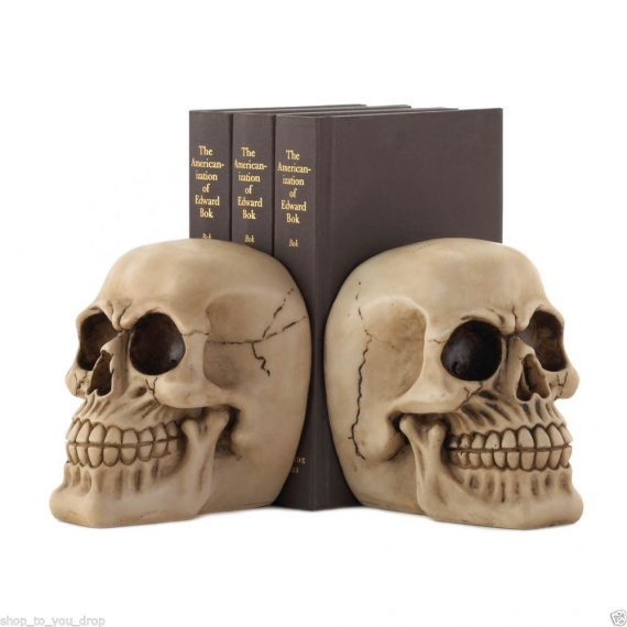 skull bookend Nemesis Now ornament gift