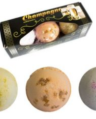 Champagne bath bomb with 3 bombs