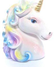 Unicorn Head Gold Horn