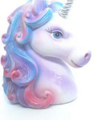 Unicorn Head Silver Horn
