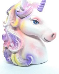 Unicorn head Purple Horn