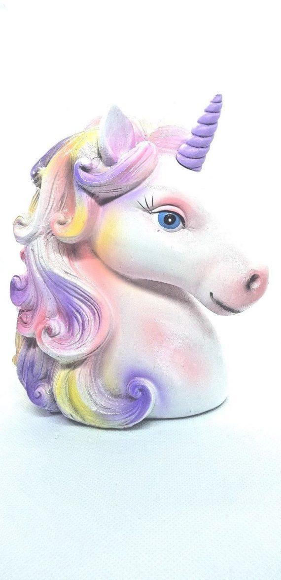 Unicorn head Purple Horn