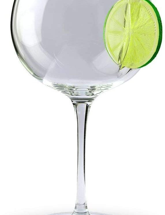 ice and slice balloon glass lime